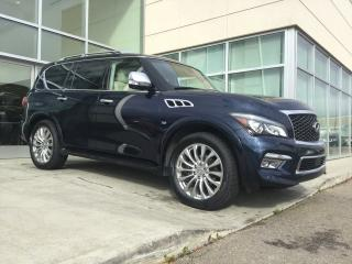 Used 2016 Infiniti QX80 TECH/HEATED AND COOLED SEATS/LANE DEPARTURE/BLIND SPOT/DVD/NAVIGATION! for sale in Edmonton, AB
