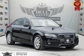 Used 2011 Audi A4 2.0T Premium, SUNROOF, LEATHER, HEATED & PWR SEAT, BLUETOOTH for sale in Toronto, ON