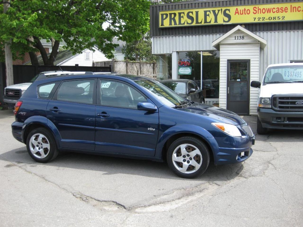 2005 Pontiac Vibe Auto, 4cyl, p/w p/l, a/c, keyless entry, cruise