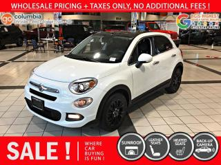 Used 2016 Fiat 500 X Lounge - Local / Leather / Dual Pane Sunroof for sale in Richmond, BC
