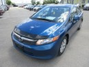 Used 2012 Honda Civic FUEL EFFICIENT LX MODEL 5 PASSENGER 1.8L - 4 CYL ENGINE.. CD/AUX INPUT.. KEYLESS ENTRY.. for sale in Bradford, ON