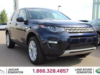 Used 2016 Land Rover Discovery Sport HSE - CPO 6yr/160000kms manufacturer warranty included until October 30, 2022! CPO rates starting at 2.9%! Locally Owned and Driven | Executive Demo | 3M Protection Applied | 5+2 Seating | Seats 7 | Upgraded Navigation | Back Up Camera | Reverse Tra for sale in Edmonton, AB
