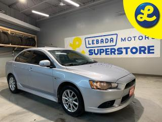Used 2015 Mitsubishi Lancer Hands Free Calling * Heated Cloth Seats * Summer & Winter Tires * 16 Alloy Rims * Climate Control * Rear Child Door Locks *  Cruise Control * Steerin for sale in Cambridge, ON