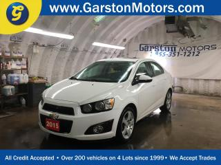 Used 2015 Chevrolet Sonic KEYLESS ENTRY w/REMOTE START*CLIMATE CONTROL*CRUISE CONTROL*POWER WINDOWS/LOCKS/MIRRORS*POWER SUNROOF*BACK UP CAMERA*HEATED FRONT SEATS*MY LINK PHONE CONNECT*AM/FM/XM/CD/AUX/USB/BLUETOOTH*ALLOYS*FOG LIGHTS* for sale in Cambridge, ON