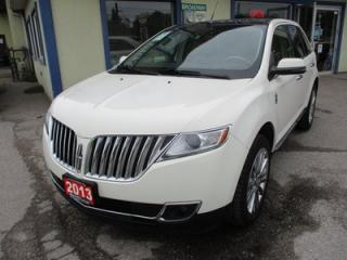 Used 2013 Lincoln MKX LOADED AWD 5 PASSENGER 3.7L - V6.. LEATHER.. HEATED/AC SEATS.. BACK-UP CAMERA.. NAVIGATION.. DUAL SUNROOF.. DUAL DVD PLAYER.. for sale in Bradford, ON