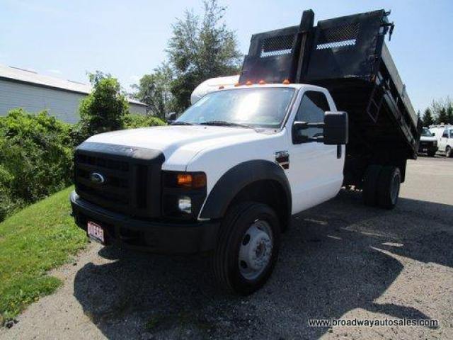2008 Ford F-550 WORK READY SUPER-DUTY - XL EDITION 3 PASSENGER 6.4L - POWER STROKE DIESEL.. TWO-WHEEL DRIVE.. REGULAR CAB.. HYDRAULIC DUMP BOX.. TRAILER BRAKE..