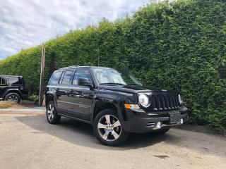 Used 2016 Jeep Patriot HIGH ALTITUDE + NAV + SUNROOF + LEATHER HEATED FT SEATS + POWER DRIVER SEAT + NO EXTRA DEALER FEES for sale in Surrey, BC
