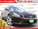 Used 2012 Nissan Maxima SV| ONLY 38,491 KM'S| LEATHER| SUNROOF| for sale in Burlington, ON