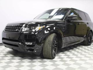 Used 2016 Land Rover Range Rover Sport V8 Supercharged STEALTH PACK - CPO 6yr/160000kms manufacturer warranty included until July 27, 2022! CPO rates starting at 2.9%! Local One Owner Trade In | No Accidents | 3M Protection Applied | Navigation | Surround Camera System | Park Assist | Re for sale in Edmonton, AB