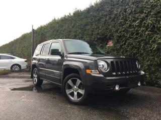 Used 2016 Jeep Patriot HIGH ALTITUDE + SUNROOF + LEATHER HEATED FT SEATS + RADIO 430 + ALLOYS for sale in Surrey, BC