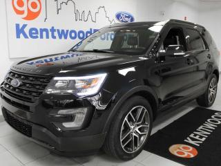 Used 2017 Ford Explorer Sport AWD, NAV, sunroof, heated/cooled power leather seats, heated steering wheel, rear climate control, power 3rd row seats, power liftgate for sale in Edmonton, AB