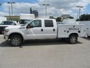 Used 2015 Ford F-350 4x4 diesel crew cab with Reading Service Box for sale in Richmond Hill, ON
