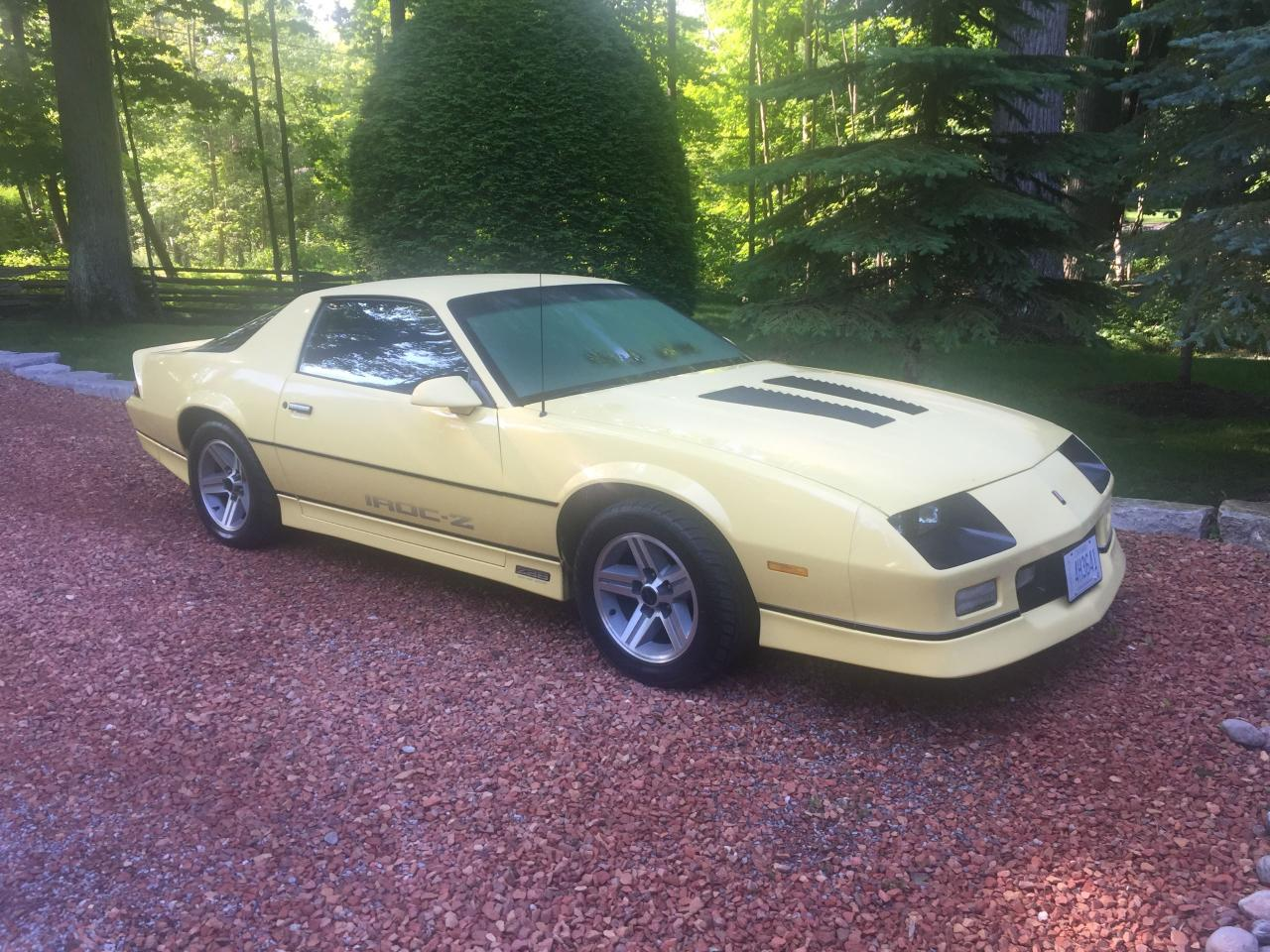 used 1985 chevrolet camaro z28 iroc for sale in sutton west ontario. Black Bedroom Furniture Sets. Home Design Ideas