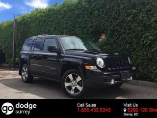 Used 2016 Jeep Patriot HIGH ALTITUDE + LEATHER HEATED FT SEATS + SUNROOF + NO EXTRA DEALER FEES for sale in Surrey, BC