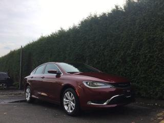 Used 2016 Chrysler 200 LIMITED + U CONNECT 8.4 + COMFORT GROUP + NO EXTRA DEALER FEES for sale in Surrey, BC