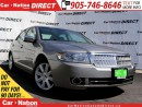 Used 2008 Lincoln MKZ | LEATHER| BACK UP SENSORS| POWER SEATS| for sale in Burlington, ON