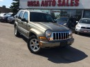 Used 2006 Jeep Liberty LIMITED no rust 4X4 safety etest for sale in Oakville, ON