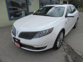 Used 2014 Lincoln MKS LOADED AWD 5 PASSENGER 3.7L - V6 ENGINE.. LEATHER.. HEATED/AC SEATS.. NAVIGATION.. DUAL SUNROOF.. THX AUDIO.. for sale in Bradford, ON