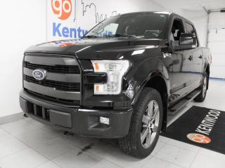 Used 2016 Ford F-150 Lariat 4X4 pkg with NAV, heated/cooled power leather seats, heated steering wheel, heated rear seats, trailer assist, spray in box liner, keyless entry, back up cam for sale in Edmonton, AB