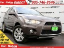 Used 2013 Mitsubishi Outlander XLS| 4X4| LEATHER| SUNROOF| BACK UP CAMERA| for sale in Burlington, ON