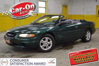 Used 1999 Chrysler Sebring JX CONVERTIBLE AUTO CRUISE A/C ALLOYS for sale in Ottawa, ON