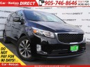 Used 2016 Kia Sedona SX+| LEATHER| BACK UP CAMERA & SENSORS| for sale in Burlington, ON