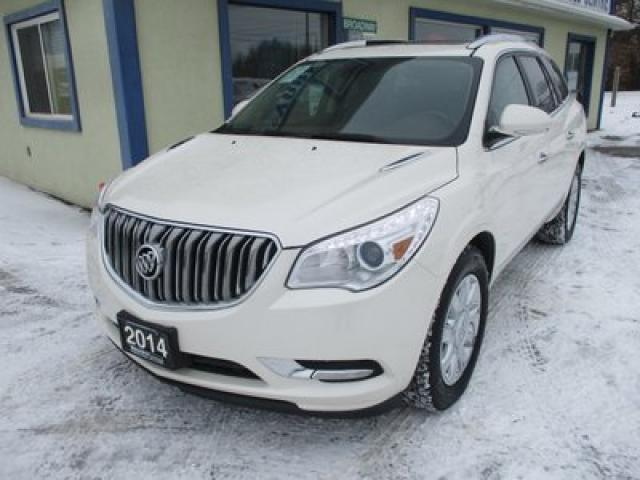 2014 Buick Enclave ALL-WHEEL DRIVE PREMIUM EDITION 7 PASSENGER 3.6L - V6.. CAPTAINS.. 3RD ROW.. LEATHER.. HEATED/AC SEATS.. BACK-UP CAMERA.. DUAL SUNROOF..