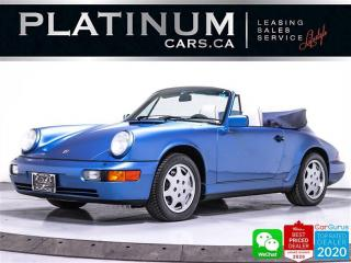 Used 1991 Porsche 911 Carrera 4 CABRIOLET, Only 24818KM, Soft TOP for sale in Toronto, ON