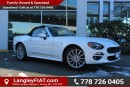 New 2017 Fiat 124 Spider Lusso WITH GPS NAVIGATION, SIRIUS-XM SATELLITE RADIO for sale in Surrey, BC