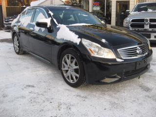 Used 2009 Infiniti G37X  G37Xs, AWD leather heatd seats, pw, pl, sunroof for sale in Ottawa, ON
