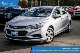 New 2017 Chevrolet Cruze LS Auto Backup Camera and Air Conditioning for sale in Port Coquitlam, BC