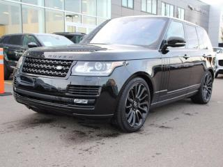 Used 2016 Land Rover Range Rover 5.0L V8 Supercharged BLACK PACK - CPO 6yr/160000kms manufacturer warranty included until October 26, 2022! CPO rates starting at 2.9%! Local One Owner Trade In | No Accidents | 3M Protection Applied | Navigation | Back Up Camera | Reverse Traffic/Blind Sp for sale in Edmonton, AB