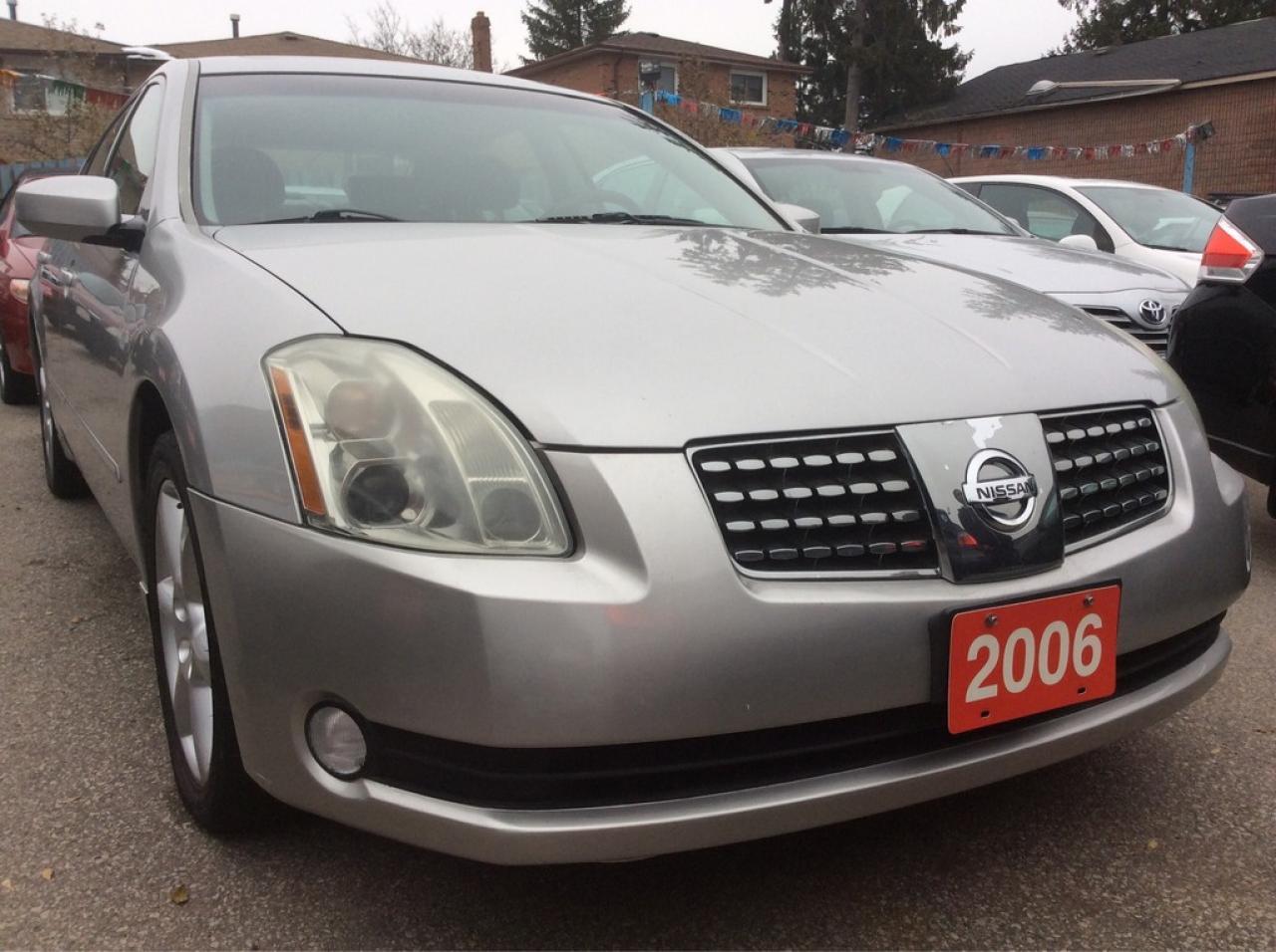 2006 Nissan Maxima Low KM 101K Leather Sunroof Bluetooth Alloys MINT