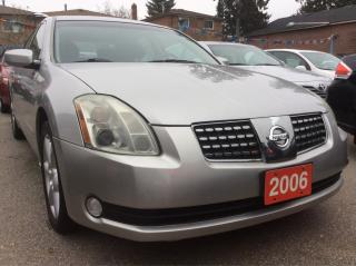 Used 2006 Nissan Maxima Low KM 101K Leather Sunroof Bluetooth Alloys MINT for sale in Scarborough, ON