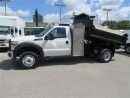 Used 2013 Ford F-550 4x4 gas with 9 ft dump plus tool box for sale in Richmond Hill, ON