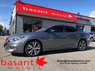 Used 2016 Nissan Maxima SL, Panoramic Roof, Nav, Blindspot, Backup Cam!! for sale in Surrey, BC
