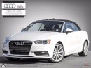 Used 2015 Audi A3 2.0T quattro Cabriolet Technik AUDI CERTIFIED for sale in Halifax, NS