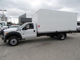 Used 2015 Ford F-550 2 wd diesel with 17 ft box for sale in Richmond Hill, ON