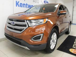Used 2017 Ford Edge SEL AWD with NAV, heated power leather seats, keyless entry and a back up cam for sale in Edmonton, AB