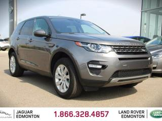 Used 2017 Land Rover Discovery Sport SE - SE - CPO 6yr/160000kms manufacturer warranty included until May 29, 2023! CPO rates starting at 2.9%! Locally Owned and Driven | Executive Demo | 3M Protection Applied | Navigation | Back Up Camera | Parking Sensors | Xenon Headlamps | Heated W for sale in Edmonton, AB