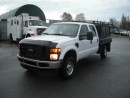 Used 2008 Ford F-350 SD XL Crew Cab Flat Deck Service Truck 4WD for sale in Burnaby, BC