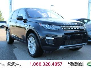 Used 2017 Land Rover Discovery Sport HSE - CPO 6yr/160000kms manufacturer warranty included until December 30, 2022! CPO rates starting at 2.9%! Locally Owned and Driven | Executive Demo | 3M Protection Applied | 5+2 Seating | Seats 7 | Upgraded Navigation | Back Up/Front Camera | Reve for sale in Edmonton, AB