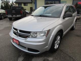 Used 2013 Dodge Journey 'GREAT KM'S' FUEL EFFICIENT SE MODEL 5 PASSENGER 2.4L - DOHC ENGINE.. CD/AUX INPUT.. KEYLESS ENTRY.. KEYLESS START.. for sale in Bradford, ON