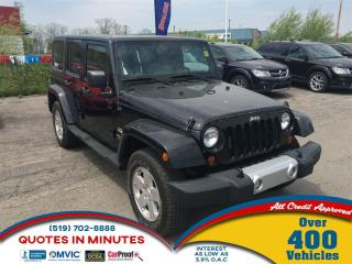 Used 2012 Jeep Wrangler Unlimited Sahara * 2TOPS * SAT RADIO for sale in London, ON