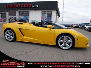 Used 2006 Lamborghini Gallardo Spyder AWD V-10 520bhp Canary Yellow for sale in Milton, ON
