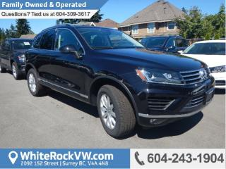 New 2017 Volkswagen Touareg 3.6L Sportline PUSH BUTTON IGNITION, RAIN SENSING WIPERS & PANORAMIC SUNROOF for sale in Surrey, BC
