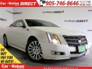 Used 2011 Cadillac CTS Performance Collection| LEATHER| SUNROOF| NAVI| for sale in Burlington, ON