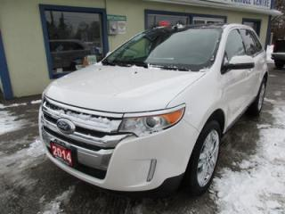 Used 2014 Ford Edge LOADED SEL EDITION 5 PASSENGER 3.5L - V6 ENGINE.. AWD.. LEATHER.. HEATED SEATS.. SYNC TECHNOLOGY.. NAVIGATION SYSTEM.. DUAL SUNROOF.. for sale in Bradford, ON