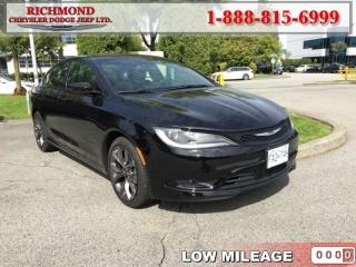 Used 2016 Chrysler 200 S for sale in Richmond, BC