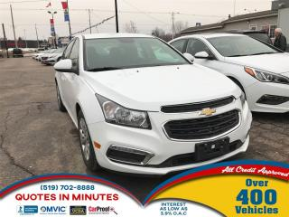 Used 2015 Chevrolet Cruze LT   ONE OWNER   CAM   BLUETOOTH   SAT RADIO for sale in London, ON